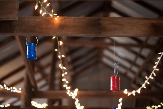 Rustic Wedding Inspiration Lighting