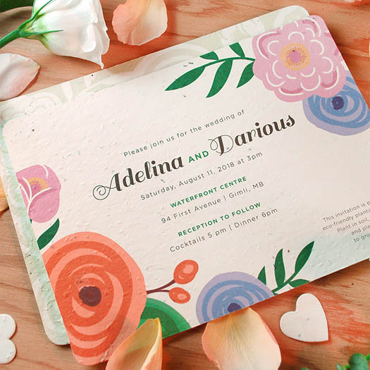 Seed Paper Green Wedding Invitations by Botanical Paper Works