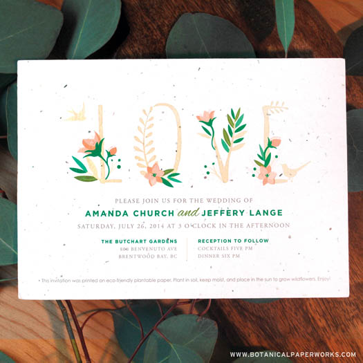 Wedding Invitations Eco Friendly: 3 Custom, Eco-Friendly Wedding Invitation Companies