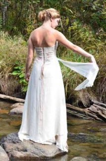 non-traditional wedding dress