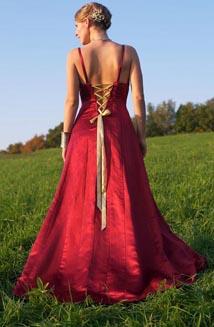 Tatiana is a Medieval Hemp Wedding Dress, $2,500