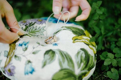 Matching Ring Pillow by Tara Lynn Bridal