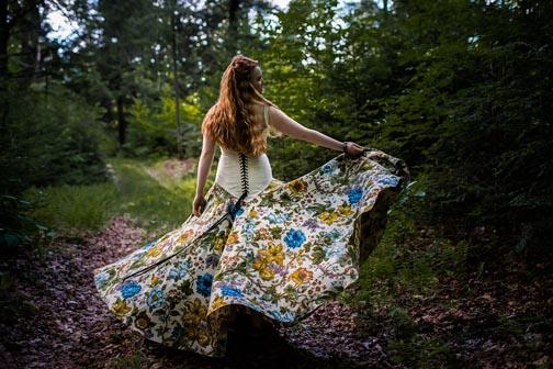 Floral Printed Wedding Dress by Tara Lynn Bridal