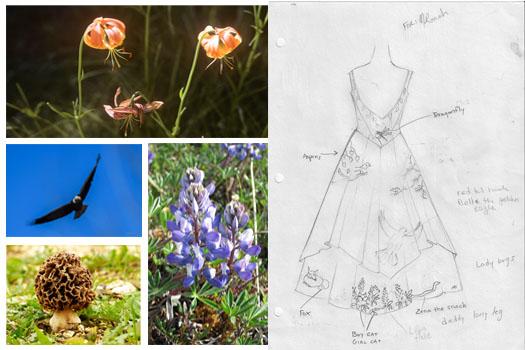 Digitally Printed Wedding Dress by Tara Lynn
