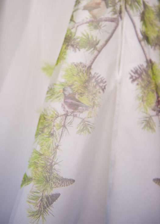 bird wedding dress