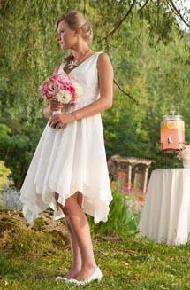 Stella | A Silk, Pixie Wedding Dress