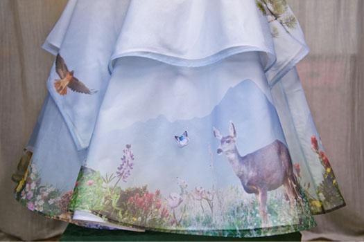 Digitally printed wedding dress