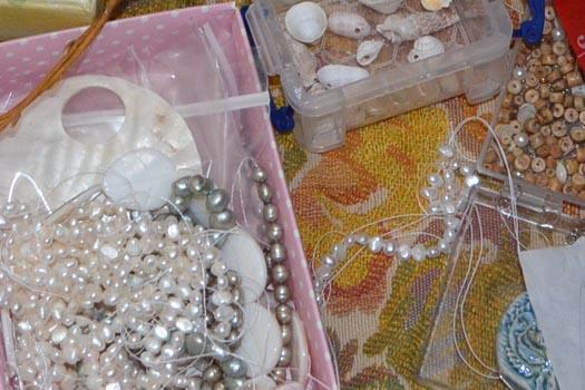 pearls and seashells